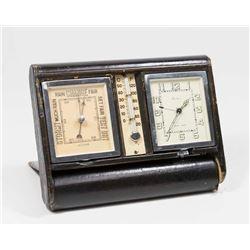 Cartier Art Deco Clock/Barometer/Thermometer