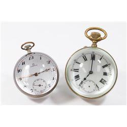 2 Crystal Ball Clocks, Omega & Unsigned
