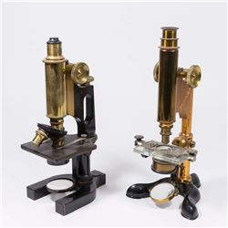 2 Bausch & Lomb Optical Co. Microscopes & Cases