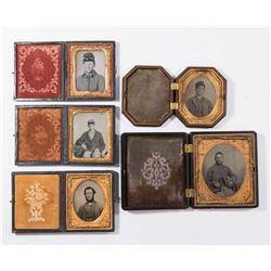 5 Civil War Daguerreotypes of Confederate Soldiers