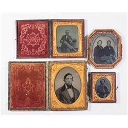 4 Daguerreotypes of 19th Century Gentlemen