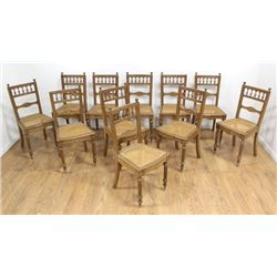12 French Cane Side Chairs