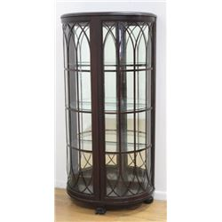RJ Horner Curved Glass Claw Foot Curio Cabinet
