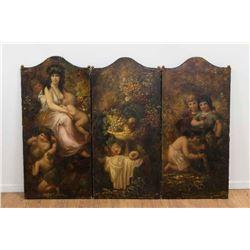 Set 3 Paint Decorated Panels