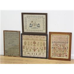 4-19th Century American Samplers