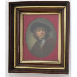 After Rembrandt, Oval Portrait of Boy