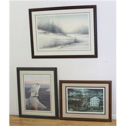 3 Prints, All Pencil Signed & Numbered