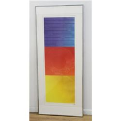 Japanese Colored Lithograph, Abstract Color Theory