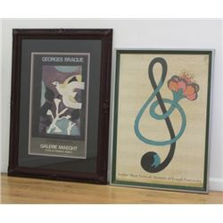 G. Braque & M. Glaser Posters