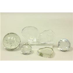 :Group of 6 Clear Glass Weights