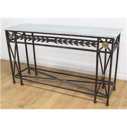 Modern Iron & Marble Console
