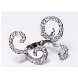 Van Cleef & Arpels 18K White Gold & Diamond Ring