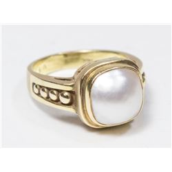 14K Yellow Gold & Pearl Ring