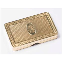 Cartier Yellow Gold Pill Box