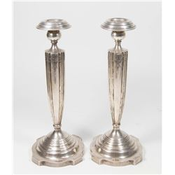 Pair Sterling Silver Candlesticks