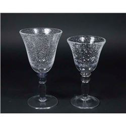 18 Venetian Glass Goblets