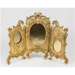 Gilt Bronze French Belle Epoque Trifold Frame