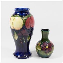 2 Moorcroft Vases