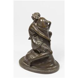 Cast Bronze Statue of Young Female