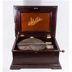 Stella Disc Player Wind-Up Music Box