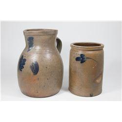 Salt Glaze Vase & Pitcher