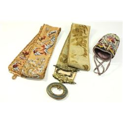 :3 Antique Embroidered & Beaded Pieces