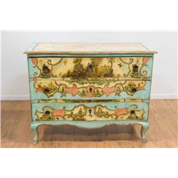 Venetian Style Painted & Decoupage Commode