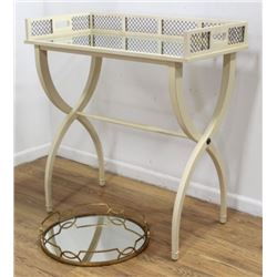 Jansen Style White Painted Wood Serving Table
