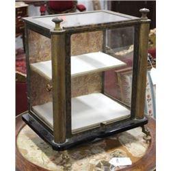 :Bronze & Black Glass Display Cabinet