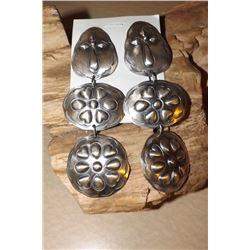 Sterling Silver Navajo Dangle Earrings