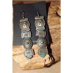Navajo Concho Belt Dangle Earrings
