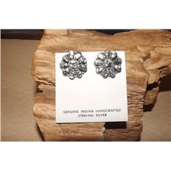 Sterling Silver Wild Horse Navajo Earrings