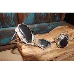 Dead Pawn Old Slave Bracelet Sterling Hematite Collectors