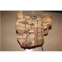Navajo Fetish Buffalo Animals Necklace Beads