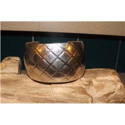Wide Hand Stamped Navajo Bracelet Cuff