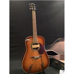 vintage acoustic electric guitar with dean markley promag plus pickup comes with hard shell case. Black Bedroom Furniture Sets. Home Design Ideas
