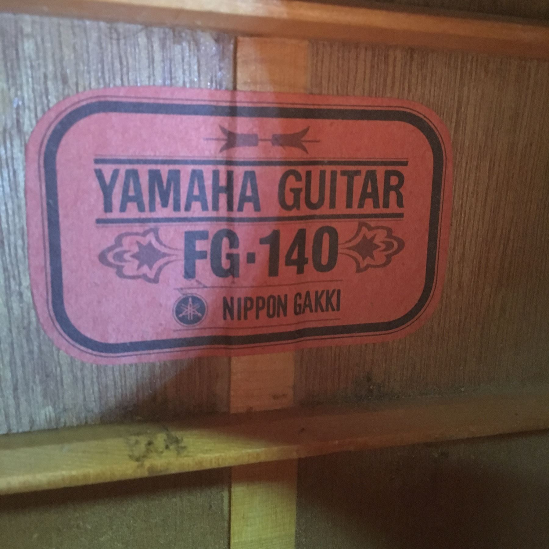 YAMAHA MODEL FG-140 ACOUSTIC GUITAR, MADE BY NIPPON GAKKI IN