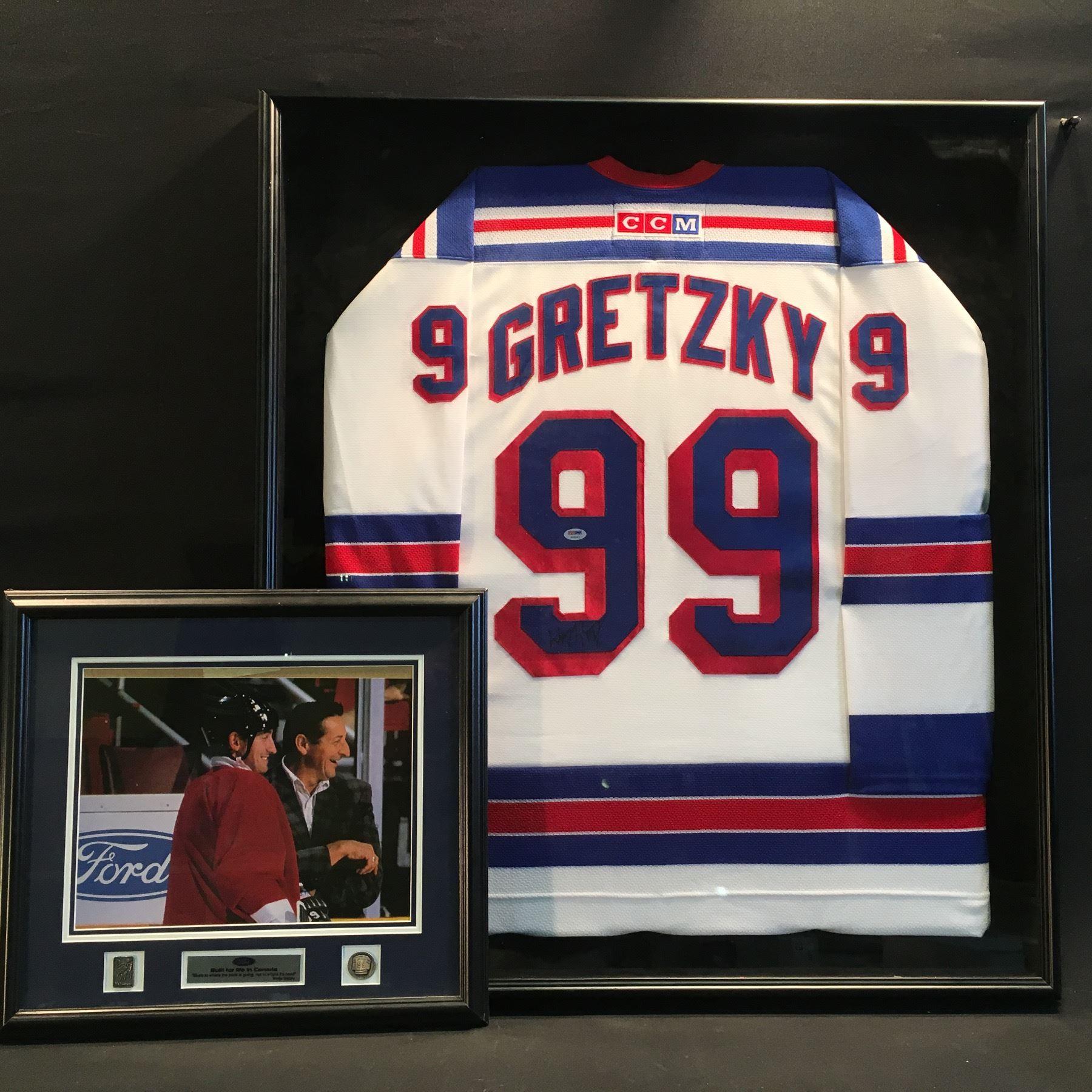 save off 4ecff 5d384 wayne gretzky autographed, authentic new york rangers ...