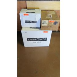New Sunpower SPR 4000M Inverter, Sunpower SPR-DC-DISC22-M-US Disconnect, SPM-101-SPR Power Manager