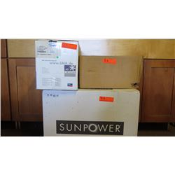 New Sunpower SPR 4000M Inverter, SPR-DC-DISC22-M-US Disconnect, SPM-101-SPR Power Manager