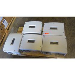 Qty 4 Sunpower SPR 3000M Inverters, Qty 1 Sunpower SPR 4000M Inverters - Previously Installed, Worki