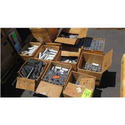 Large Lot of Stand Offs - Clear and Dark, Various Sizes