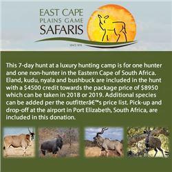 East Cape Plains Game Safaris