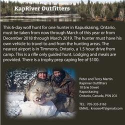 Kapriver Outfitters Wolf