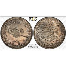 Turkey 1327//6 5 Kurush PCGS MS63 *ONLY 1 GRADED*