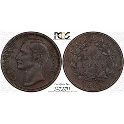 Sarawak 1889-H 1 Cent PCGS Genuine XF