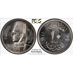 Egypt 1941 10 Milliemes PCGS SPECIMEN SP65 *ONLY 11 GRADED* Kings Norton Mint Collection