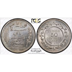 Tunisia 1916-A 50 Centimes Lec-164 PCGS MS64 *ONLY 3 GRADED*