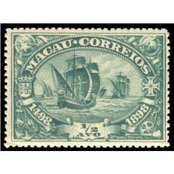 Macao 1898 1/2 Avo Scott #67 Blue Green PSE VG-F60 MINT OGPH