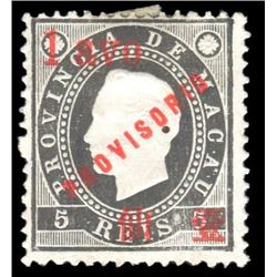 Macau 1894 1 Avo/5 Reis Scott #58 Black PSE VG50 MINT OGH